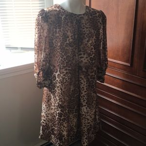 Eva Mendez leopard dress